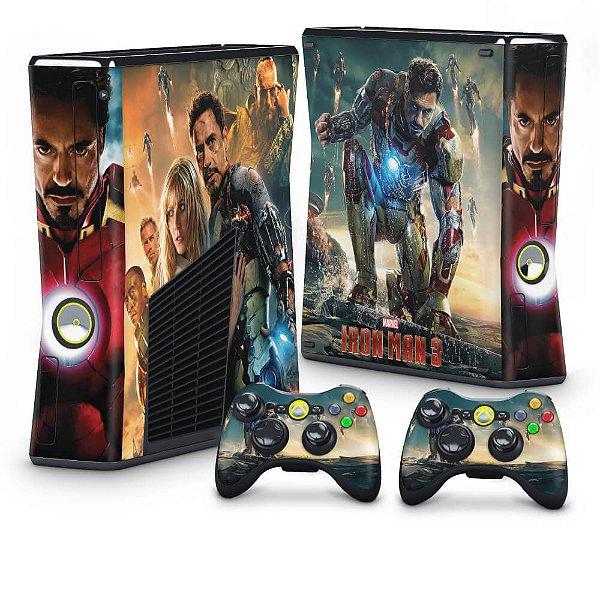 Xbox 360 Slim Skin - Iron Man - Homem de Ferro #A