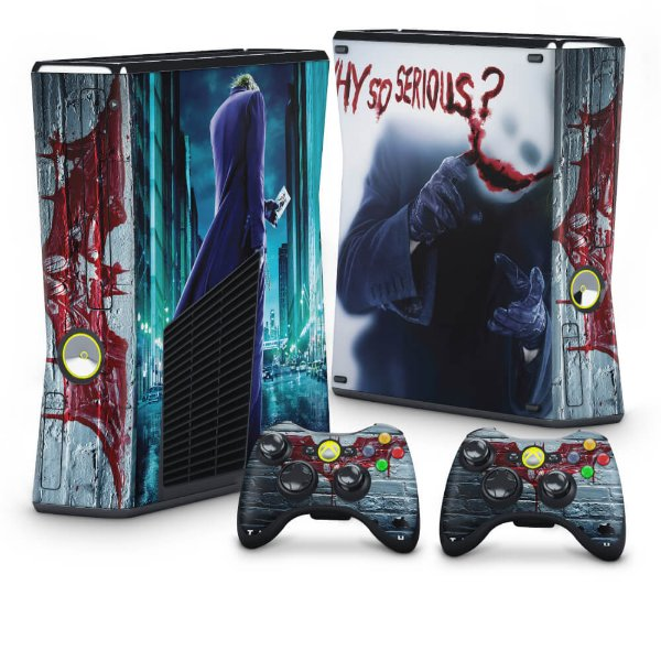 Xbox 360 Slim Skin - Coringa Joker #A