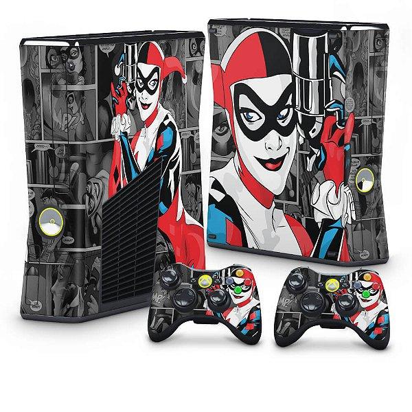 Xbox 360 Slim Skin - Arlequina Harley Quinn