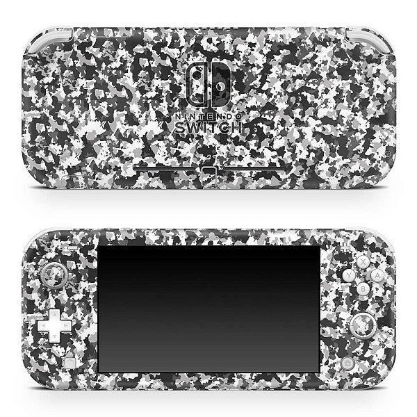 Nintendo Switch Lite Skin - Camuflada Cinza