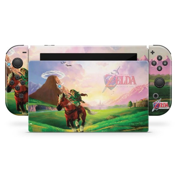 Nintendo Switch Skin - Zelda Ocarina Of Time