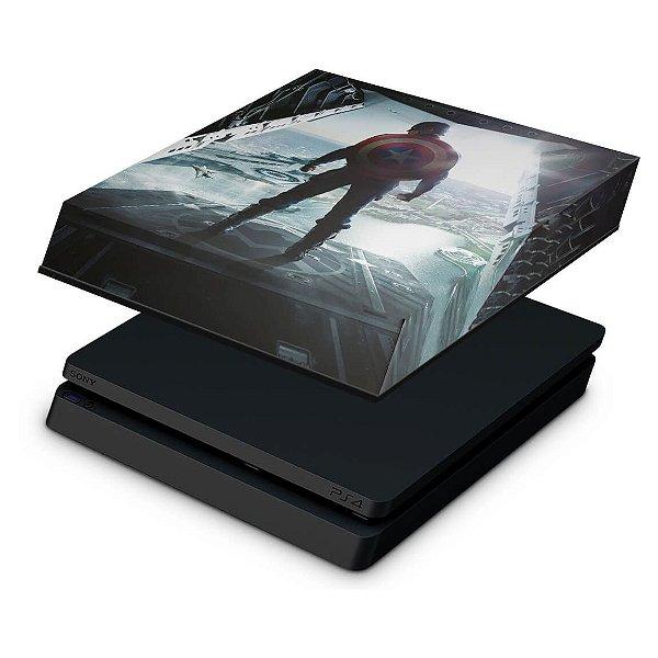 PS4 Slim Capa Anti Poeira - Capitao America