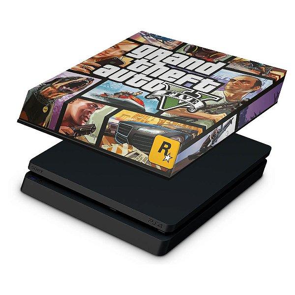 PS4 Slim Capa Anti Poeira - GTA V