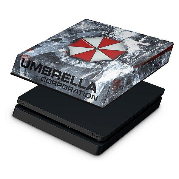 PS4 Slim Capa Anti Poeira - Resident Evil Umbrella