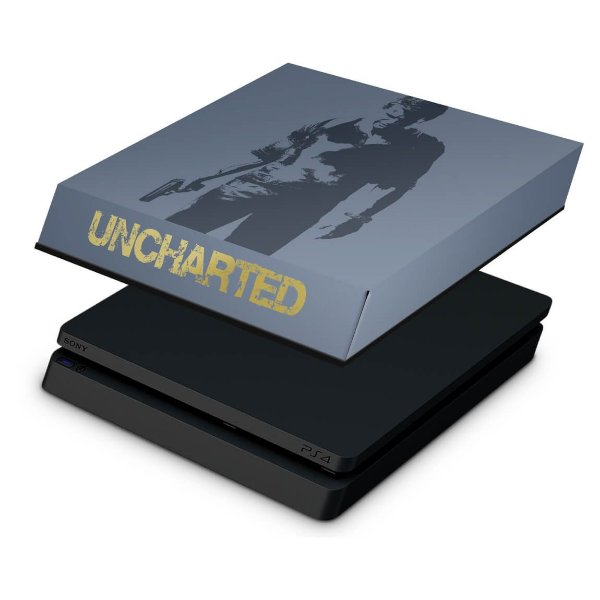 PS4 Slim Capa Anti Poeira - Uncharted 4 Limited Edition