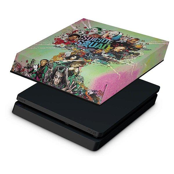 PS4 Slim Capa Anti Poeira - Esquadrão Suicida #B