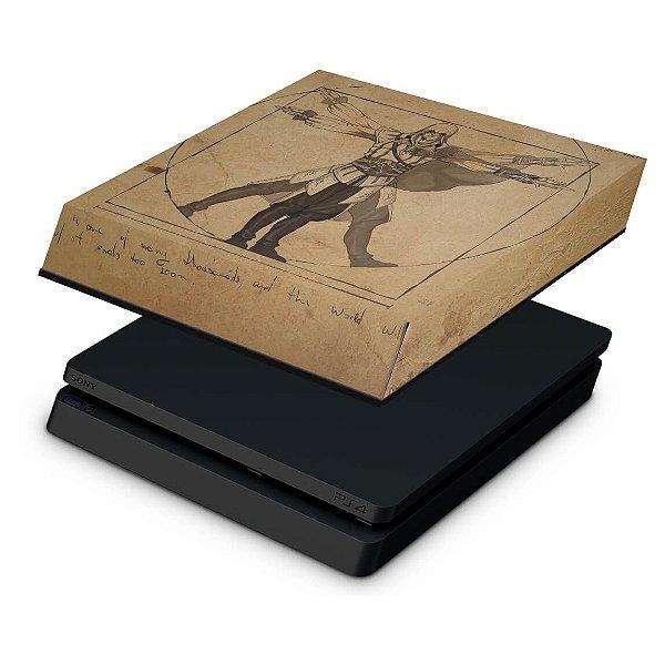 PS4 Slim Capa Anti Poeira - Assassin's Creed Vitruviano