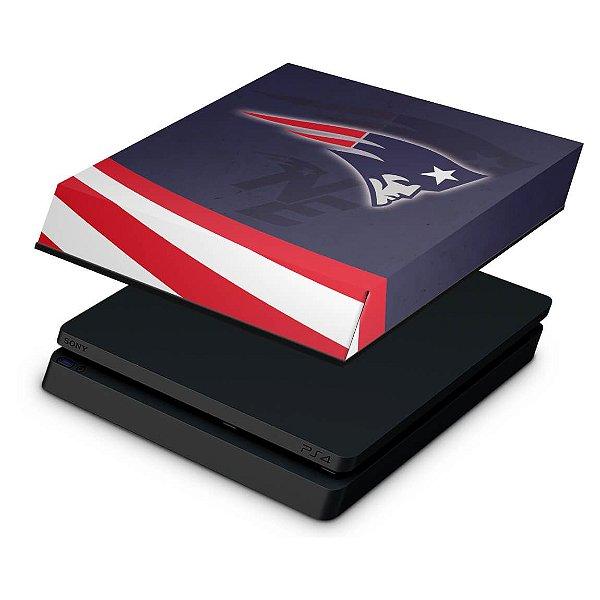PS4 Slim Capa Anti Poeira - New England Patriots NFL