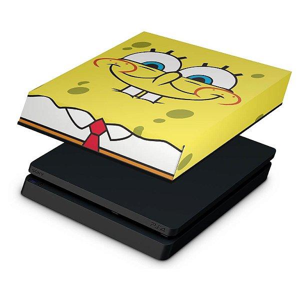 PS4 Slim Capa Anti Poeira - Bob Esponja