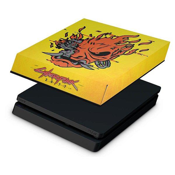 PS4 Slim Capa Anti Poeira - Cyberpunk 2077