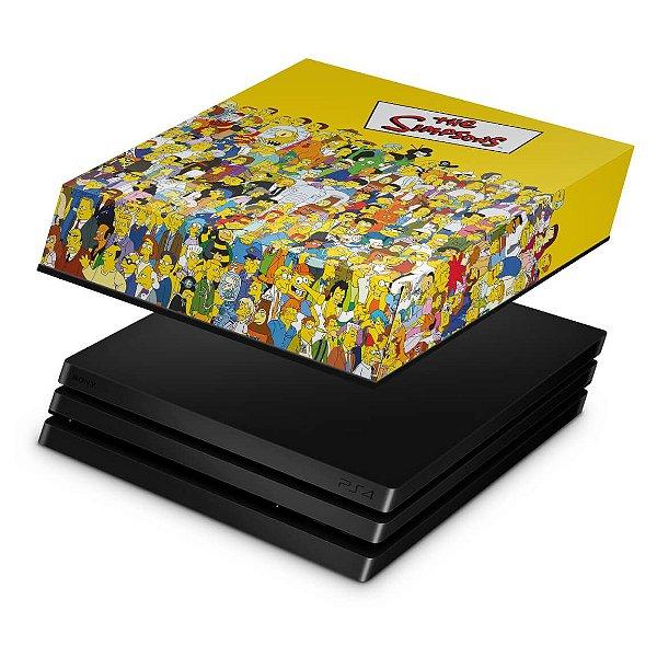 PS4 Pro Capa Anti Poeira - The Simpsons