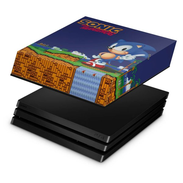PS4 Pro Capa Anti Poeira - Sonic The Hedgehog