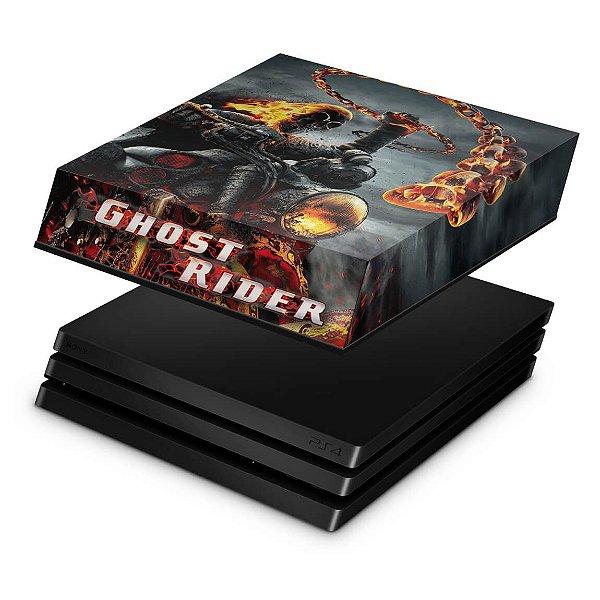 PS4 Pro Capa Anti Poeira - Ghost Rider #B
