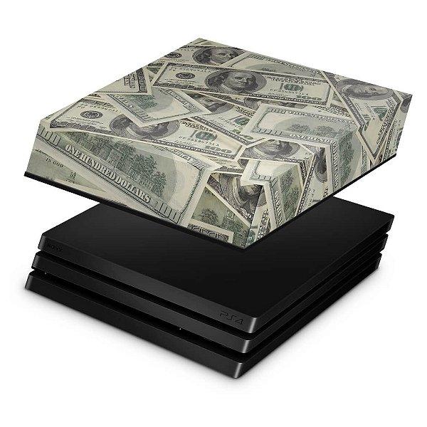 PS4 Pro Capa Anti Poeira - Dollar Money Dinheiro