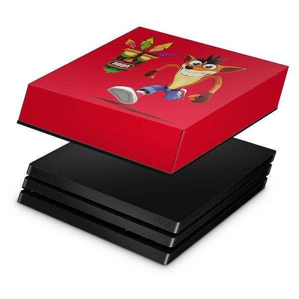 PS4 Pro Capa Anti Poeira - Crash Bandicoot