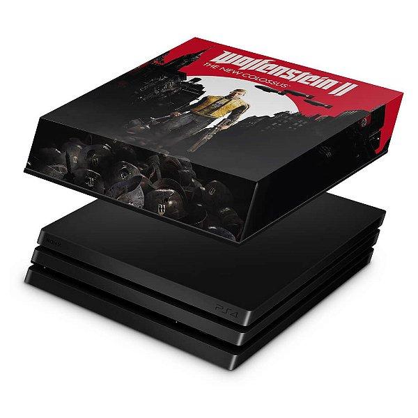 PS4 Pro Capa Anti Poeira - Wolfenstein 2 New Order