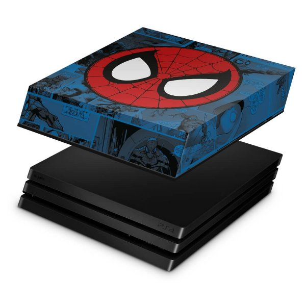 PS4 Pro Capa Anti Poeira - Homem-Aranha Spider-Man Comics