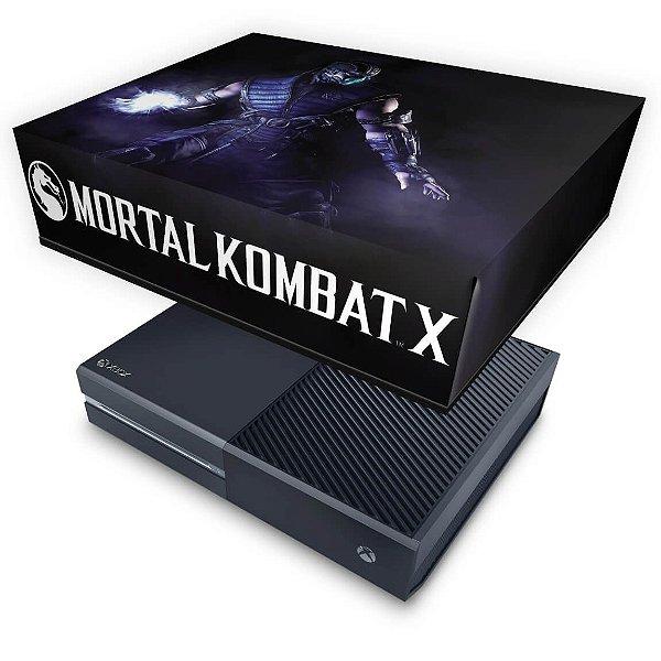 Xbox One Fat Capa Anti Poeira - Mortal Kombat X - Subzero