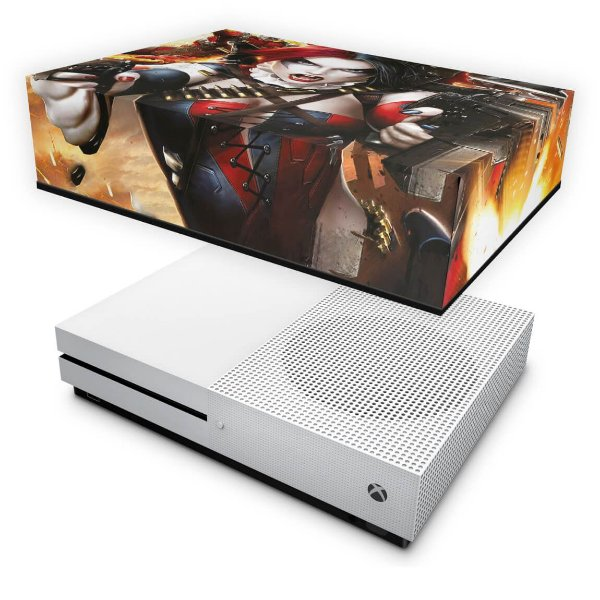 Xbox One Slim Capa Anti Poeira - Arlequina Harley Quinn #B