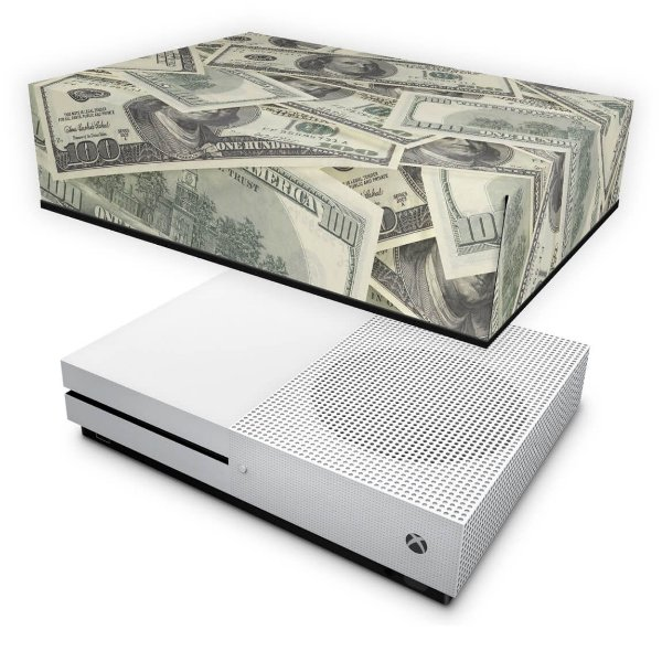 Xbox One Slim Capa Anti Poeira - Dollar Money Dinheiro