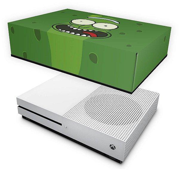 Xbox One Slim Capa Anti Poeira - Pickle Rick and Morty