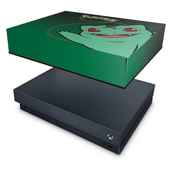 Xbox One X Capa Anti Poeira - Pokemon Bulbasaur