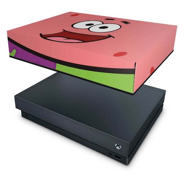 Xbox One X Capa Anti Poeira - Patrick Bob Esponja