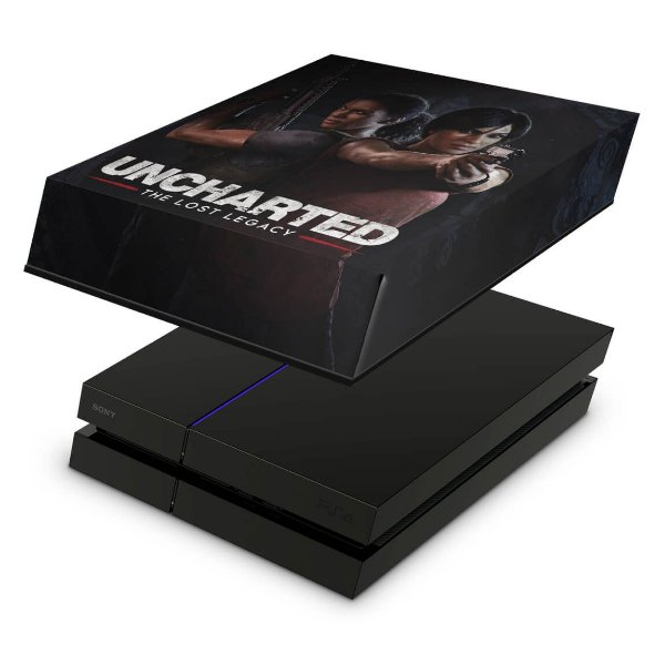 PS4 Fat Capa Anti Poeira - Uncharted Lost Legacy