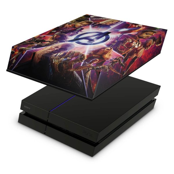 PS4 Fat Capa Anti Poeira - Os Vingadores: Guerra Infinita