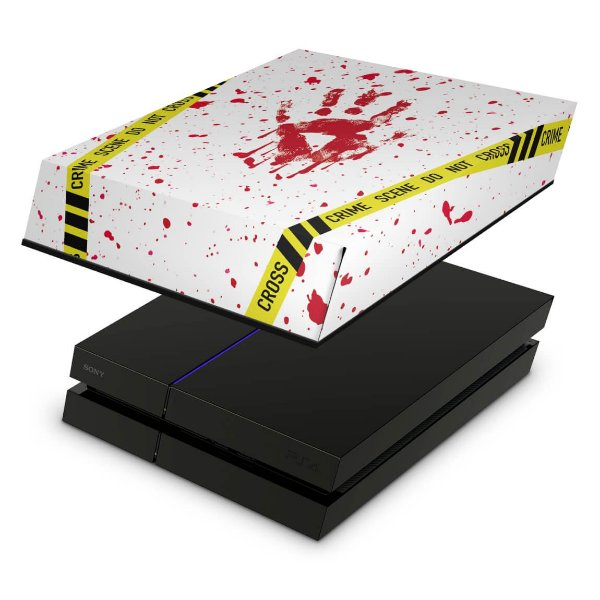 PS4 Fat Capa Anti Poeira - Cena De Crime Scene