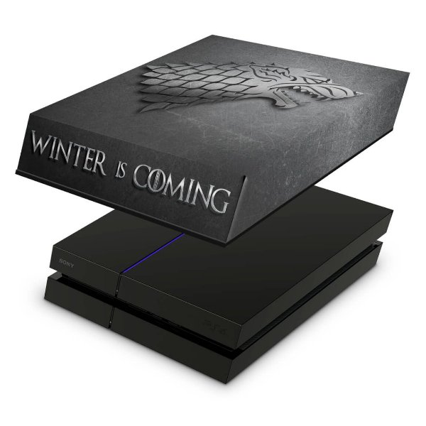 PS4 Fat Capa Anti Poeira - Game Of Thrones Stark