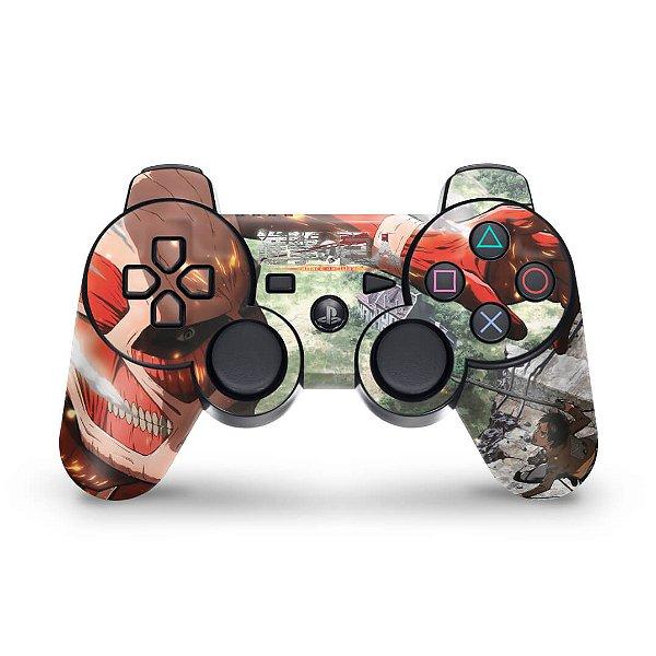 PS3 Controle Skin - Attack On Titan #a