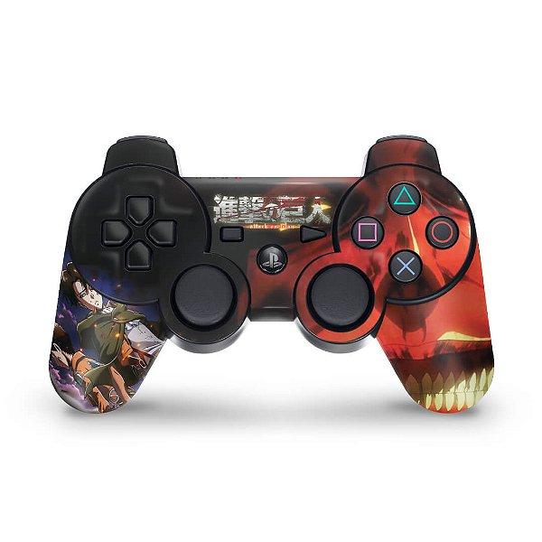 PS3 Controle Skin - Attack On Titan #b