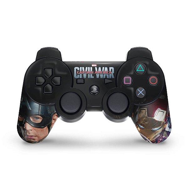 PS3 Controle Skin - Capitão America Guerra