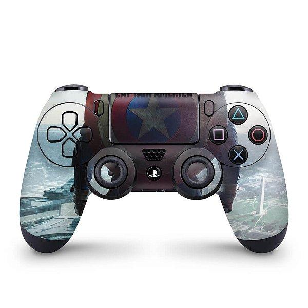 Skin PS4 Controle - Capitao America