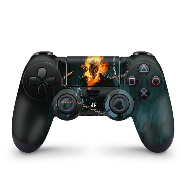 Skin PS4 Controle - Ghost Rider #B