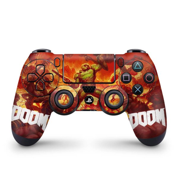 Skin PS4 Controle - Doom