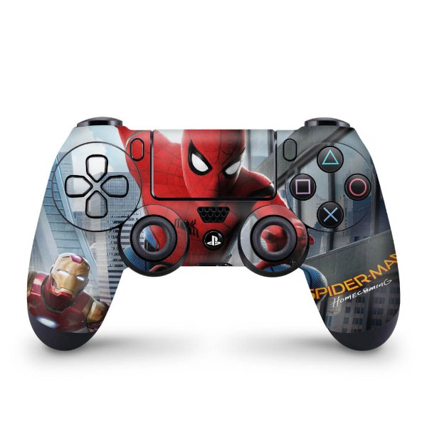 Skin PS4 Controle - Spiderman - Homem Aranha Homecoming
