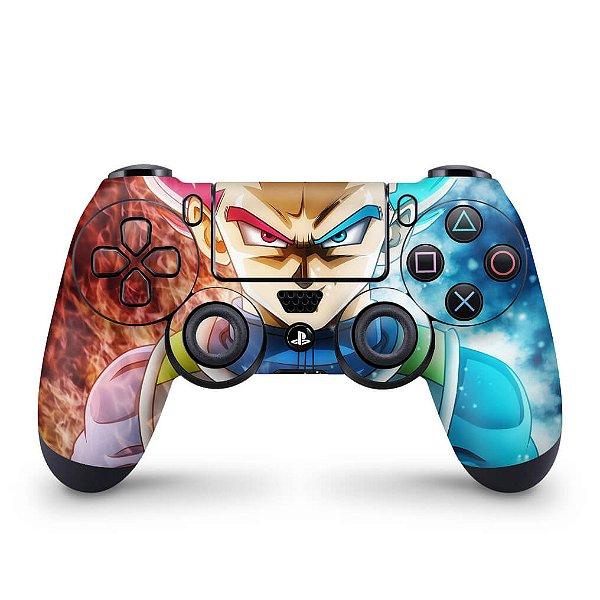 Skin PS4 Controle - Dragon Ball Super Vegeta SSJ GOD
