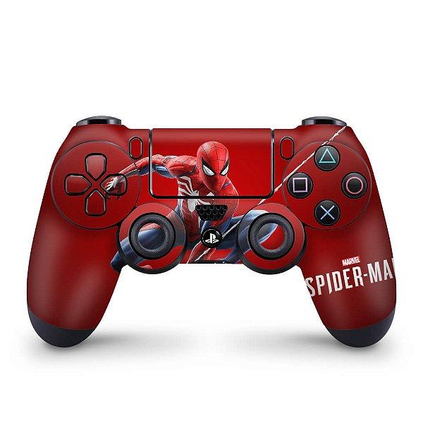 Skin PS4 Controle - Homem Aranha Spider-man