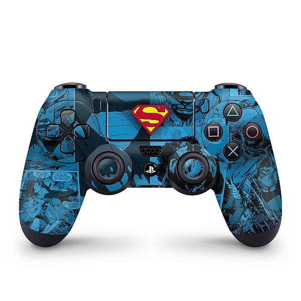 Skin PS4 Controle - Super Homem Superman Comics