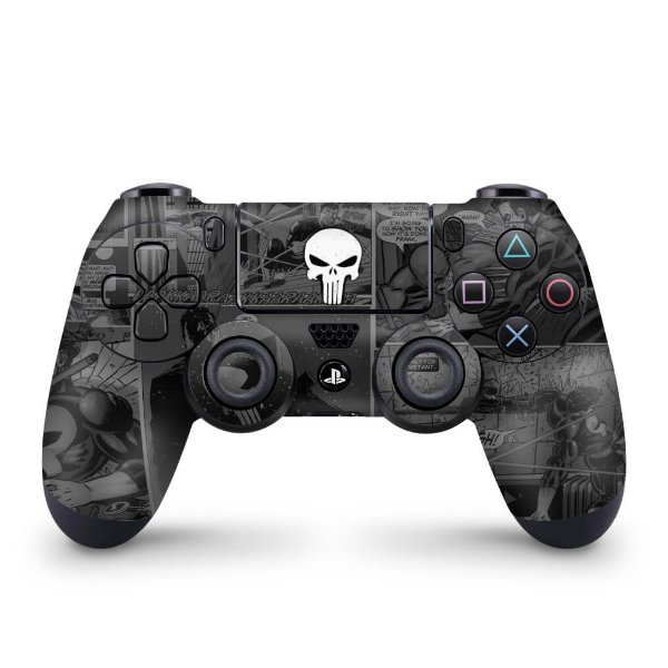 Skin PS4 Controle - The Punisher Justiceiro Comics