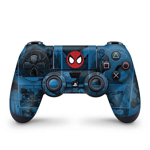 Skin PS4 Controle - Homem-Aranha Spider-Man Comics