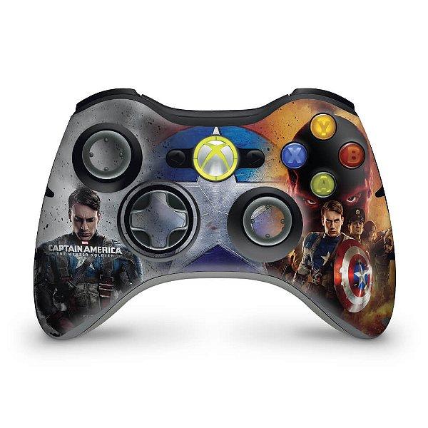 Skin Xbox 360 Controle - Capitão América