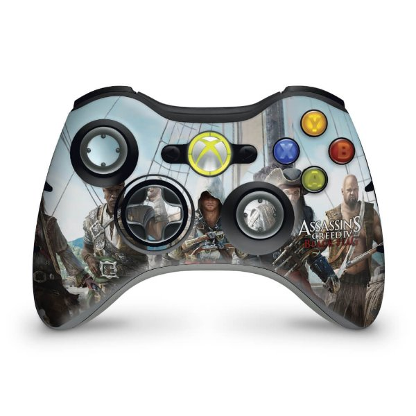Skin Xbox 360 Controle - Assassins Creed IV Black Flag