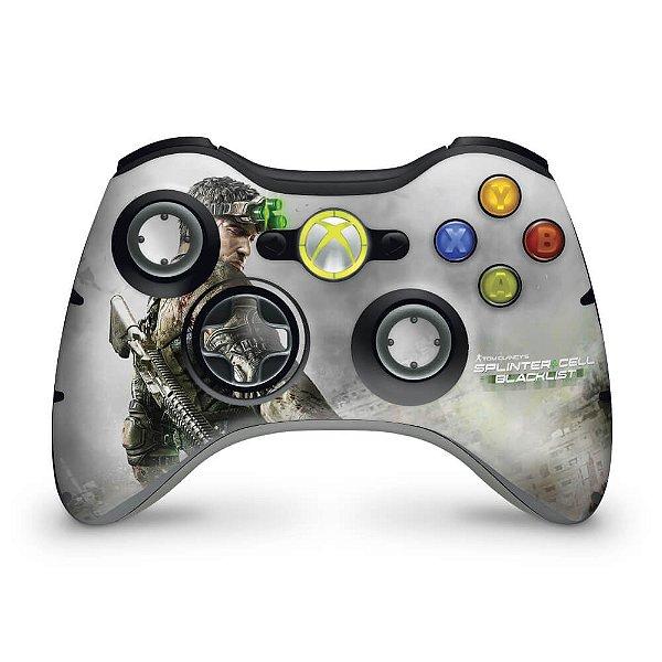 Skin Xbox 360 Controle - Splinter Cell Black
