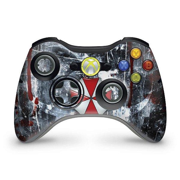 Skin Xbox 360 Controle - Resident Evil Umbrella