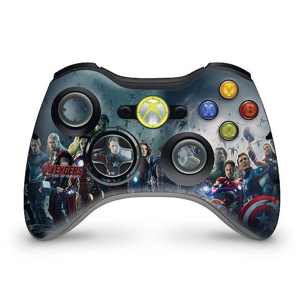Skin Xbox 360 Controle - Vingadores Ultron
