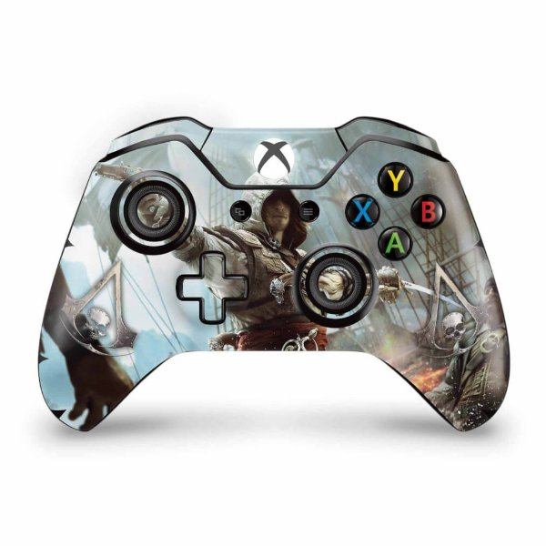 Skin Xbox One Fat Controle - Assassins Creed Black Flag
