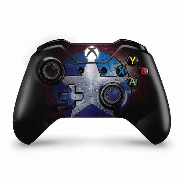 Skin Xbox One Fat Controle - Capitão America
